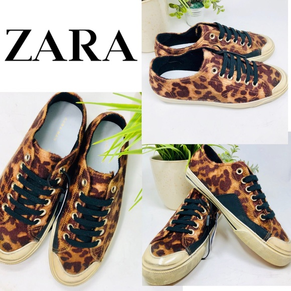 23bfc5a288c10 Zara Shoes | Leopard Print Low Top Sneakers Grunge Style | Poshmark